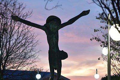 statua del Cristo Risorto medjugorje